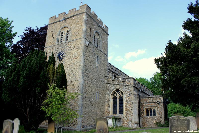 Duxford, England - St Peter's Church in Duxford.