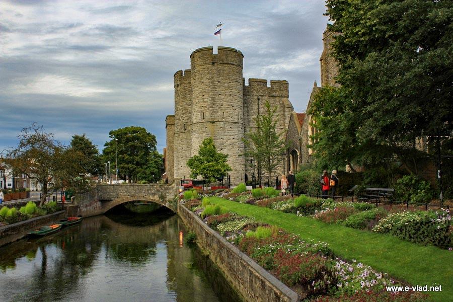Canterbury, England - Westgate seen from Westgate Gardens