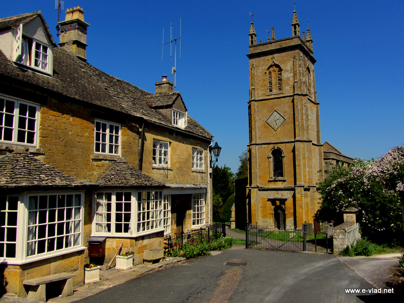 Blockley, England - The church tower.