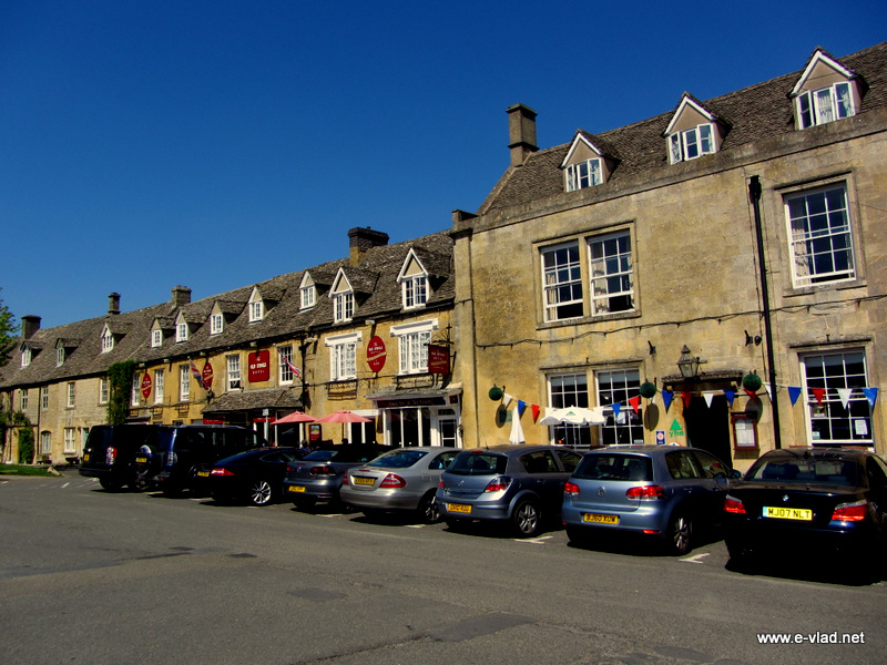Stow-on-the-Wold, England - Village center.