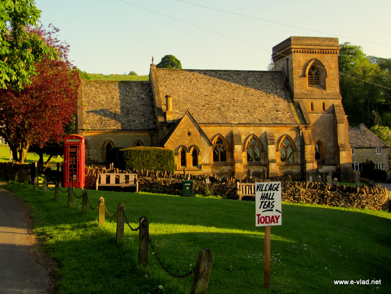 The beautiful 19th century church in Snowshill.