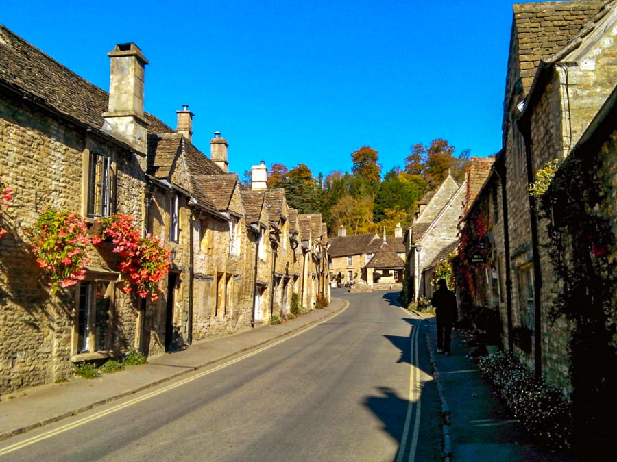 Castle Combe, Wiltshire - Stone and timber homes typical of the Cotswolds