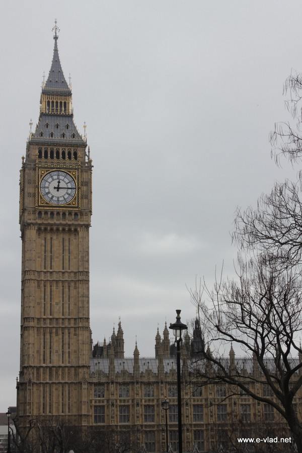 London, England - Big Ben and the Parliament Building.
