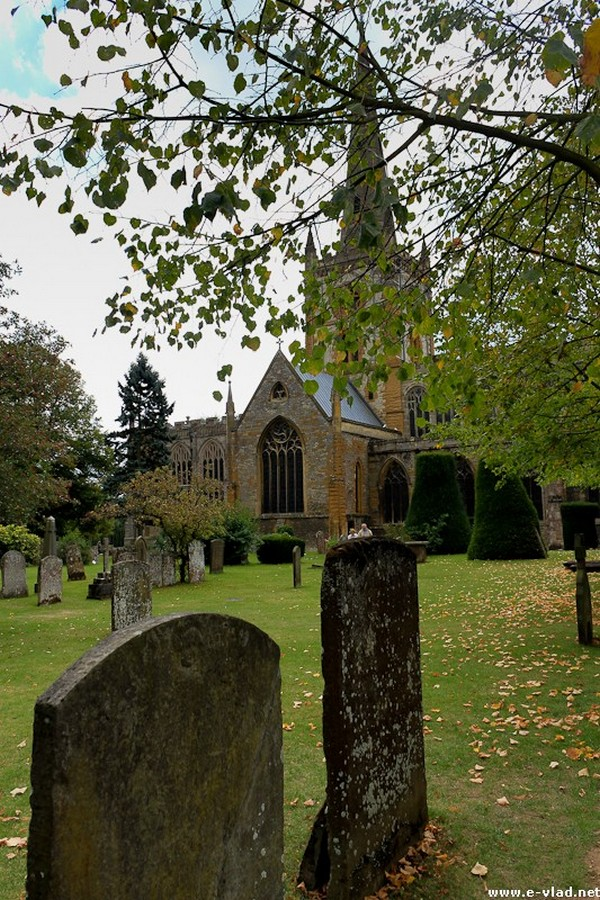 Stratford-upon-Avon, England - Beautiful view of the Holy Trinity Church where William Shakespeare is buried