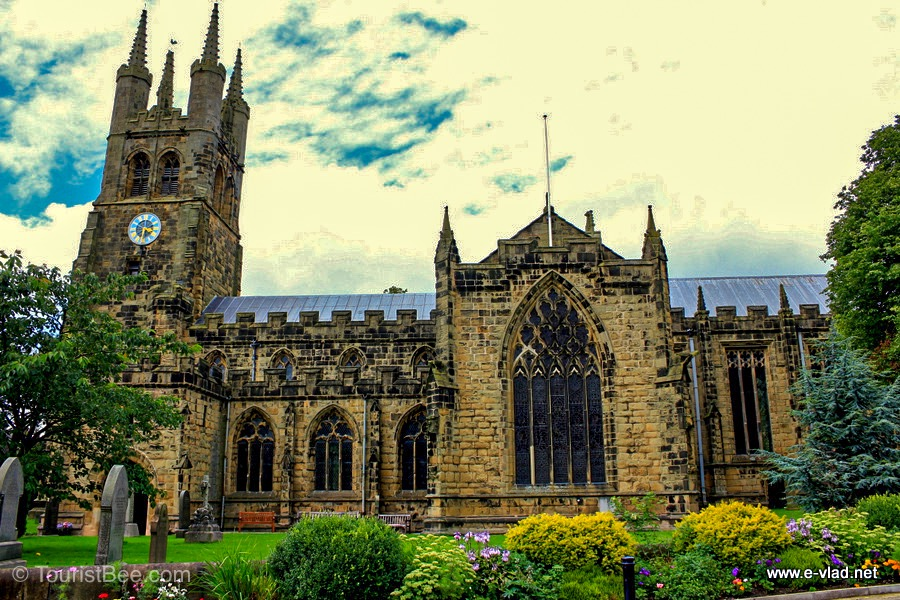 Tideswell, England - St John the Baptist church.