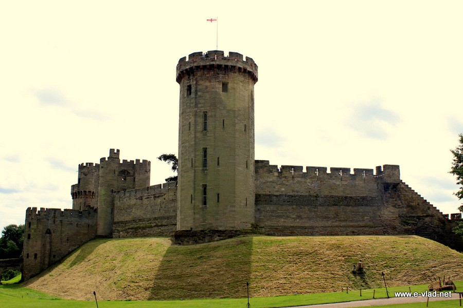 Warwick Castle, England - Majestic Warwick Castle with the impressive Guy's Tower.