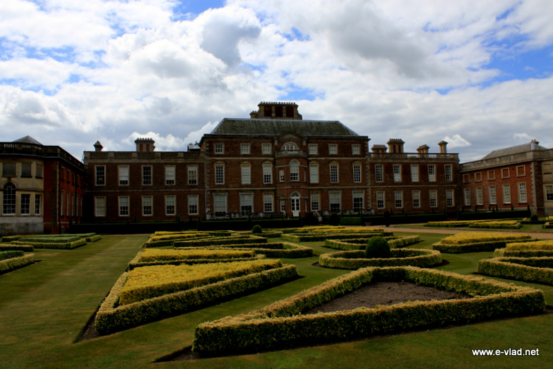 Wimpole Hall, Cambridgeshire, England - View of Wimpole Hall from the back side.