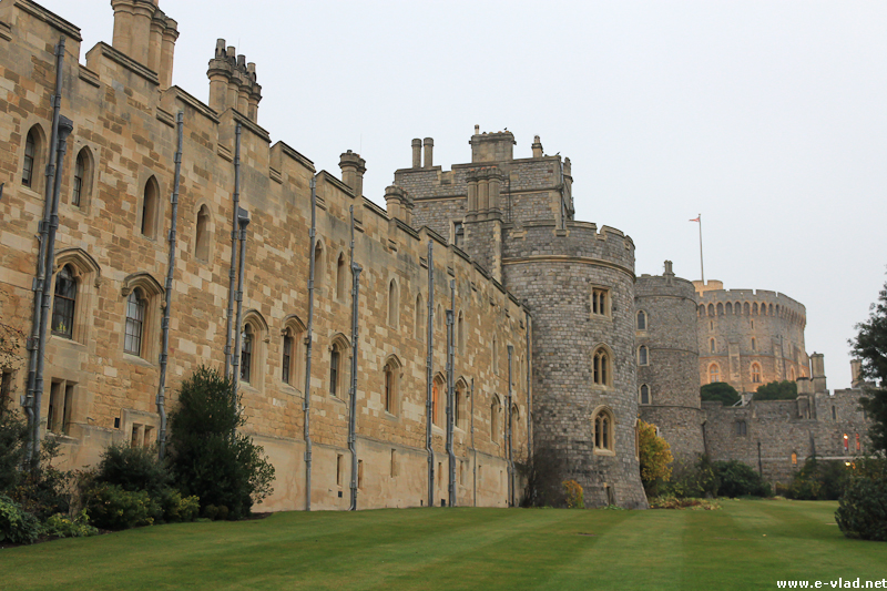 Windsor, England - A part of the Southern Wall from Windsor Castle.