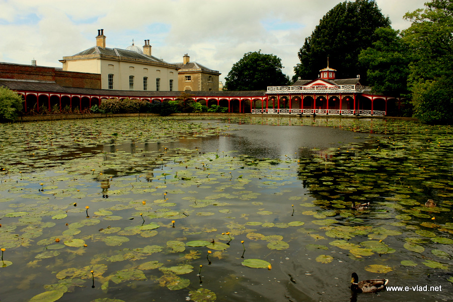 Woburn Abbey, England - Beautiful lake and Chinese garden.