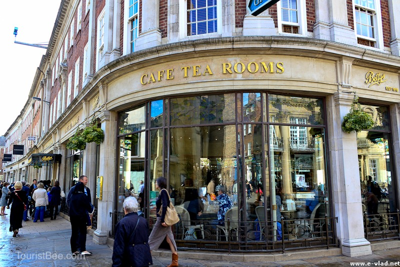 Betty's Cafe Tea Rooms in St Helen's Square is a favorite spot for tourists walking through York.