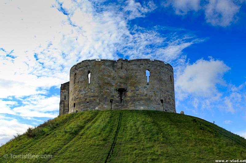 Clifford's Tower, the keep of York Castle overlooks the whole city.