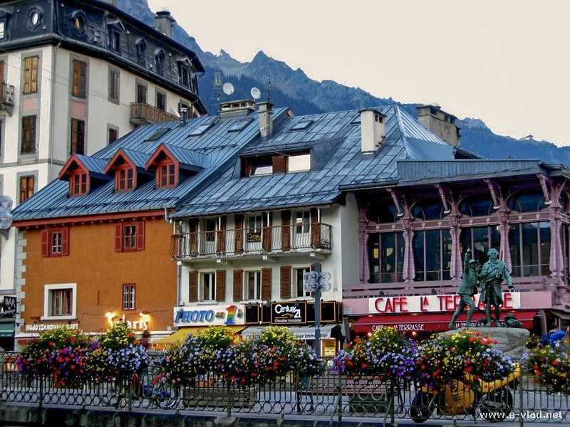 The village of Chamonix is charming in the summer.