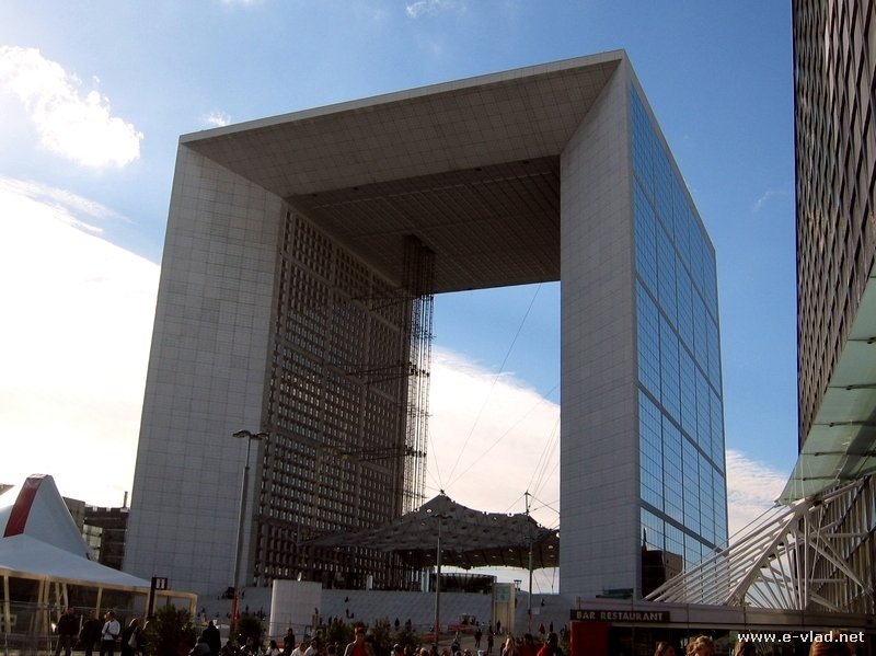 Paris, France - Modern Arch in Paris' business district La Defense