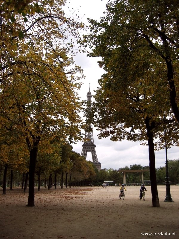 Paris, France - Eiffel Tower seen from the nearby park