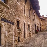 Walking tour of a medieval jewel at Perouges,  France