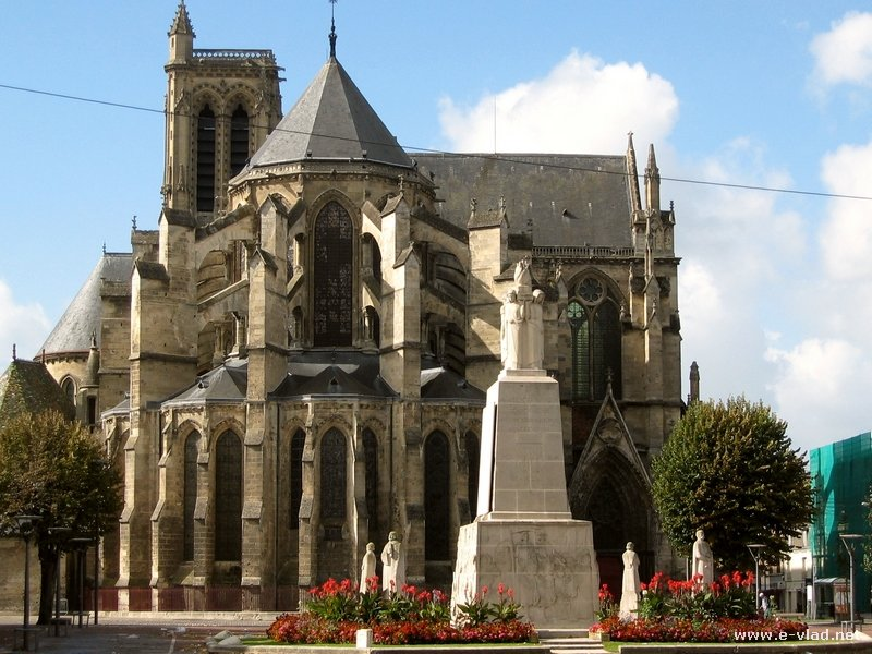 Soissons France  city images : Soissons, France Cathedral seen from Place du Cardinal Binet
