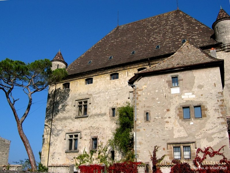 Old chateau next to Lake Geneva.
