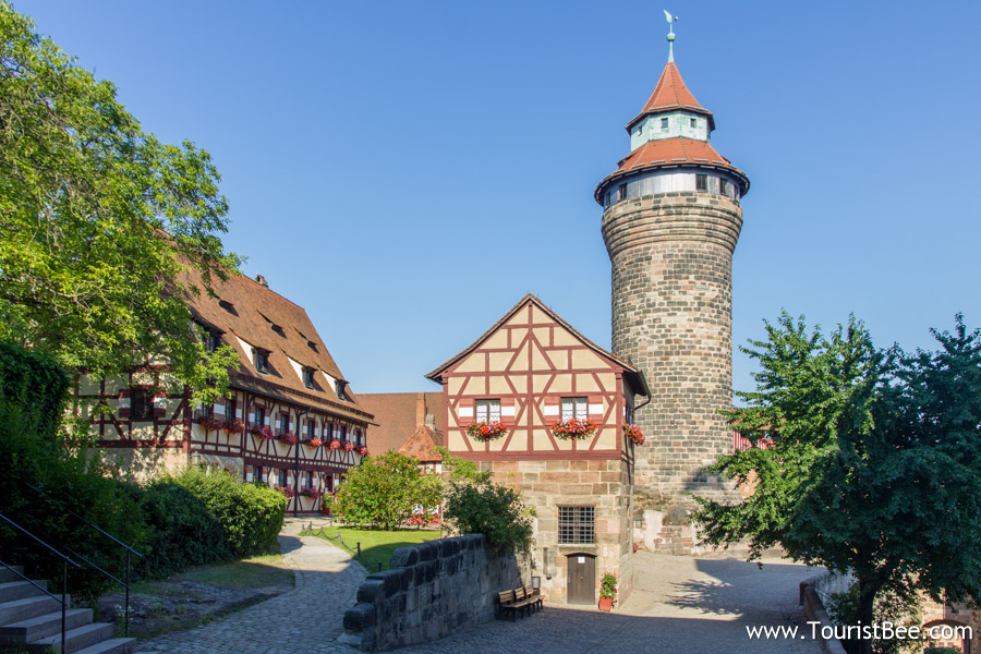 Nuremberg, Germany - Beautiful view of the Nuremberg Castle tower and entrance