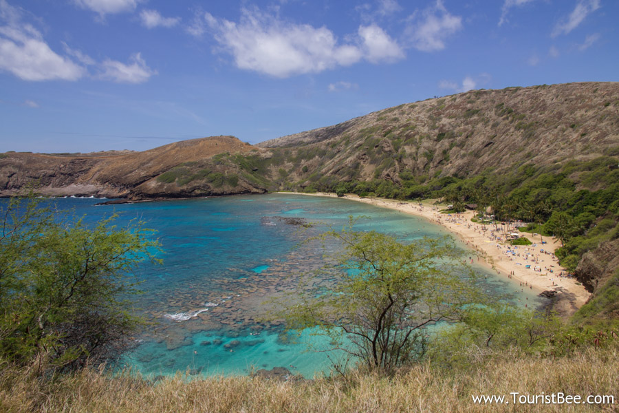 Hanauma Bay on Oahu is renown for snorkeling