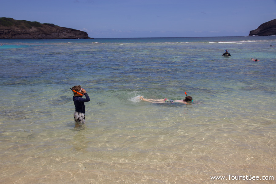Knowing how to swim is crucial to enjoying snorkeling and the beach at Hanauma Bay in Oahu
