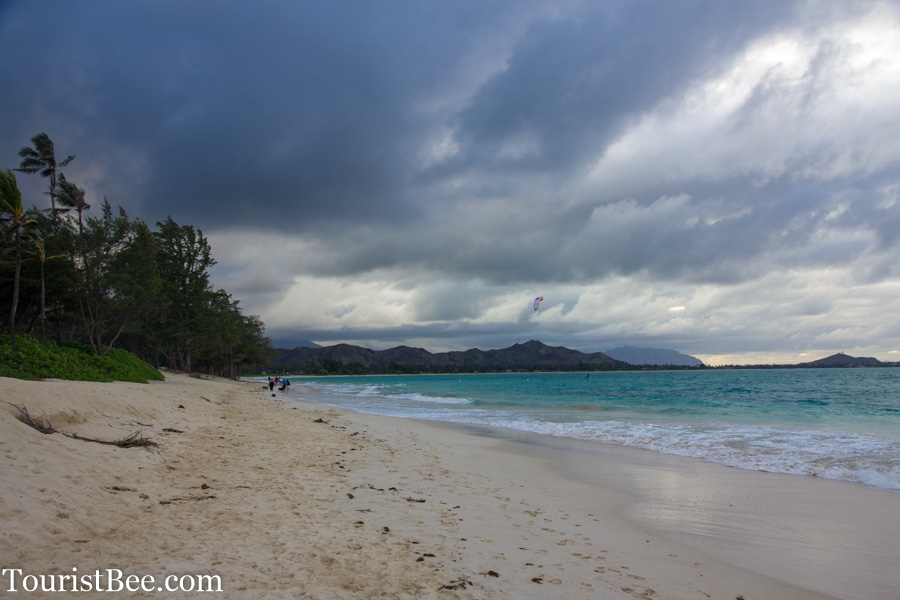Oahu, Hawaii - Looking north from Kailua Beach