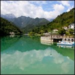 Barcis,Italy - Beautiful view of Lago di Barcis (Lake Barcis)