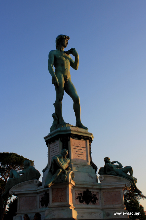 Another replica of Michelangelo's David in Piazzale Michelangelo.