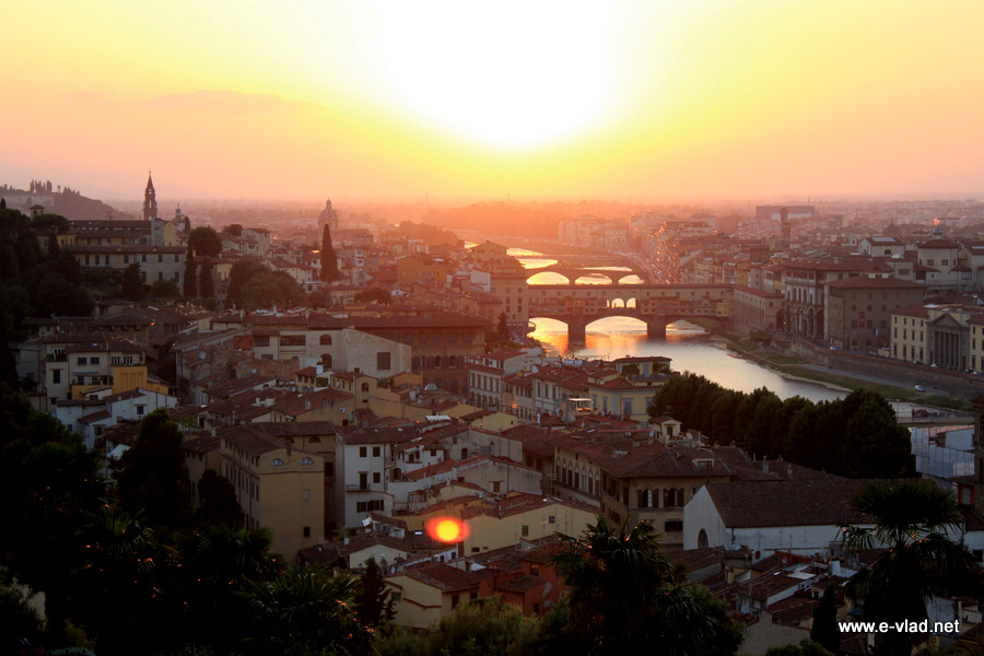 Panorama of Florence seen from Piazza Michelangelo