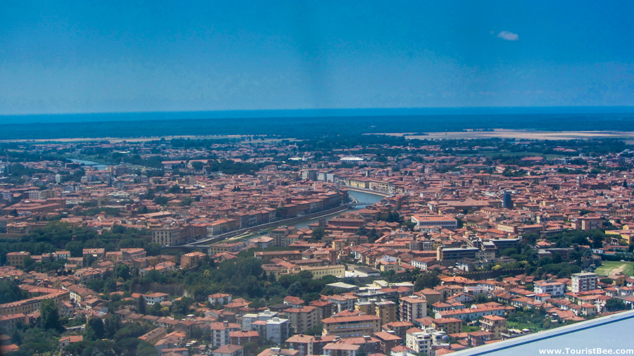 Pisa, Italy - Beautiful aerial view before landing