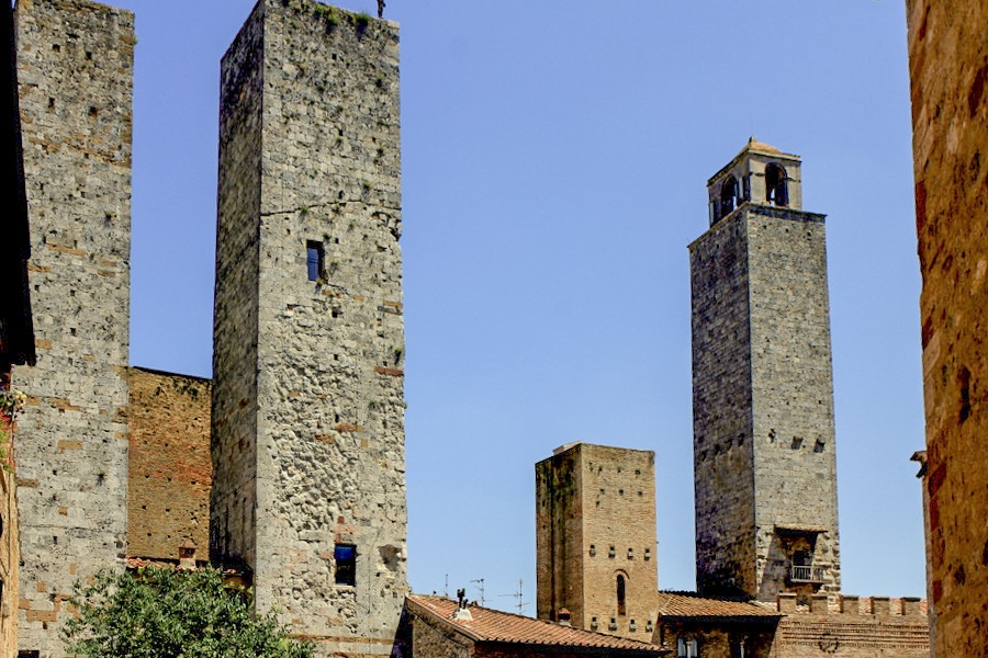 Torri dei Salvucci are an impressive site in San Gimignano