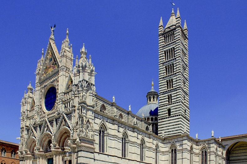 Siena, Italy - The amazing Duomo of Siena (Santa Maria Asunta) was completed in 1263.
