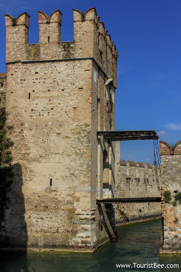 Sirmione Italy  City pictures : Sirmione, Italy Old city walls with draw bridge.