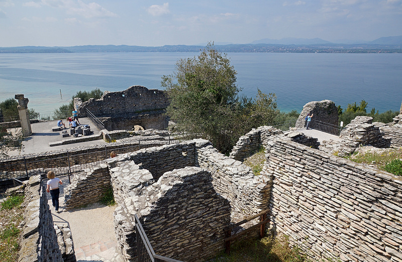 Sirmione, Italy - Beautiful view of Lake Garda from Grote di Catullo