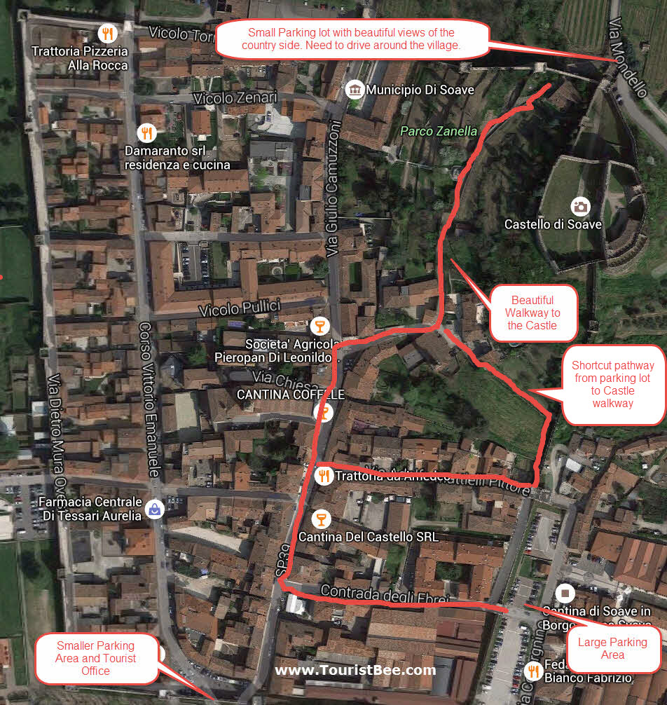 Soave, Italy - Walking tour map