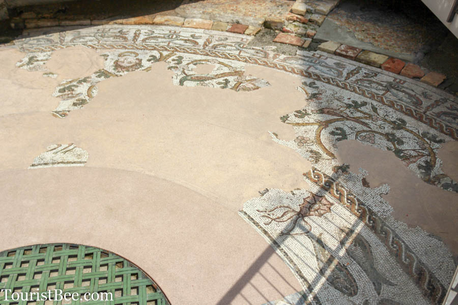 Treviso, Italy - Early Christian mosaic dating from 4th century