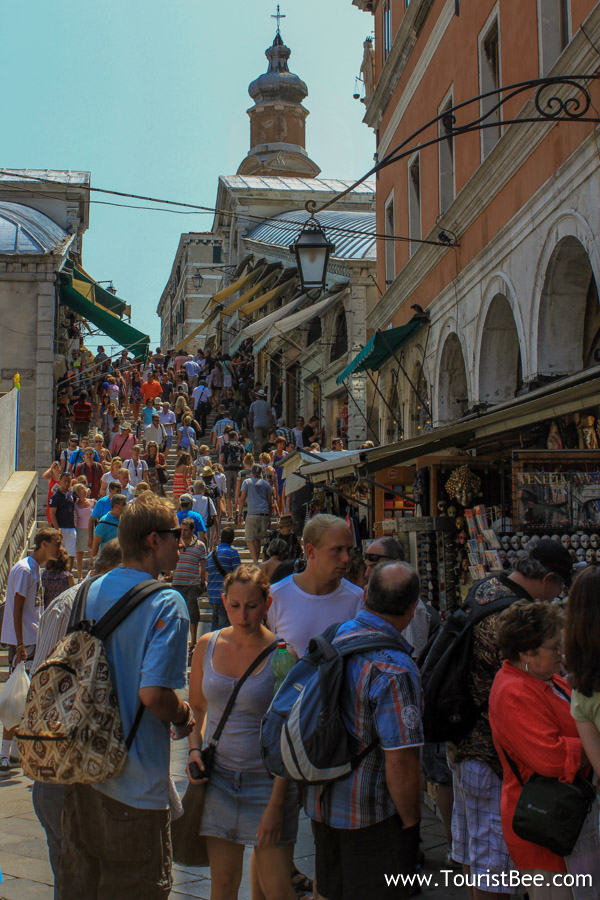 Venice, Italy - Very busy passageway leading to Piazzetta San Marco.