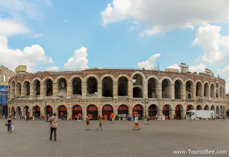 The Roman Arena is third on our walking tour of Verona