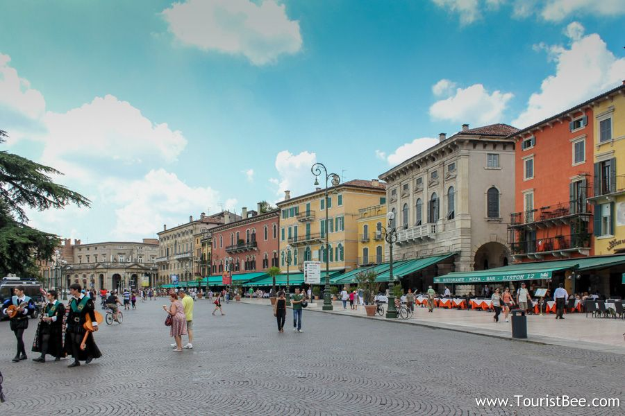 Piazza Bra is the first stop on our walking tour of Verona