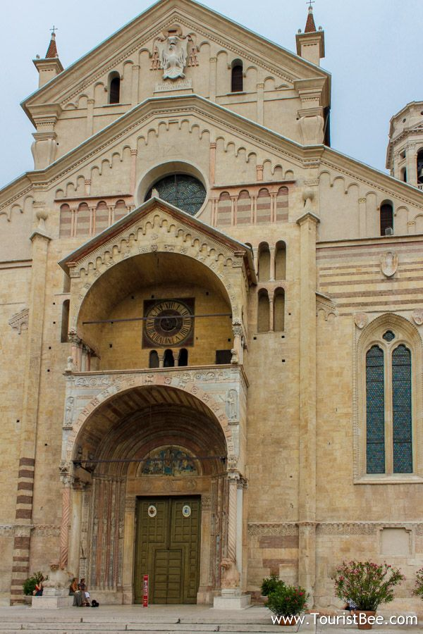 Verona Cathedral is a great slow stop on your walking tour of Verona,Italy
