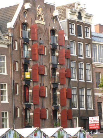Amsterdam Netherlands Typical Amsterdam Appartment Building