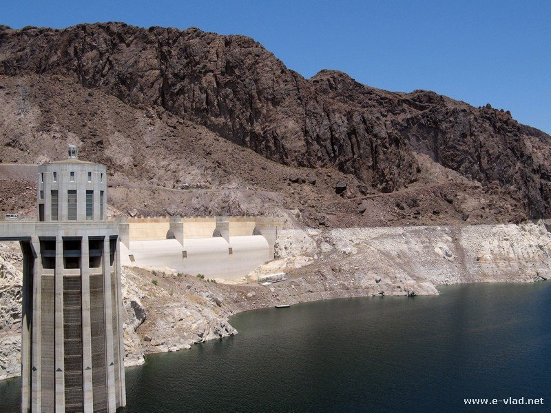 The Arizona side of the Hoover Dam.
