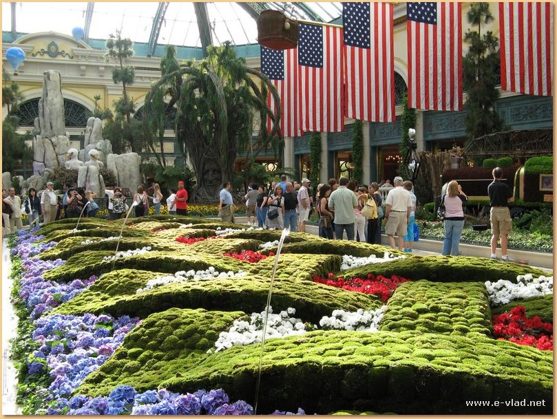 Bellagio Las Vegas - Beautiful gardens inside The Belagio Hotel lobby.