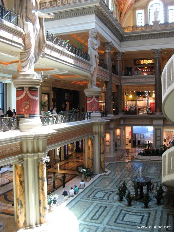 High end shopping at Caesar's Palace Forum Shops
