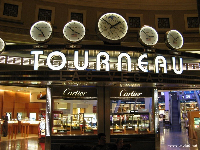 Tourneau high end watch store at Caesar's Palace