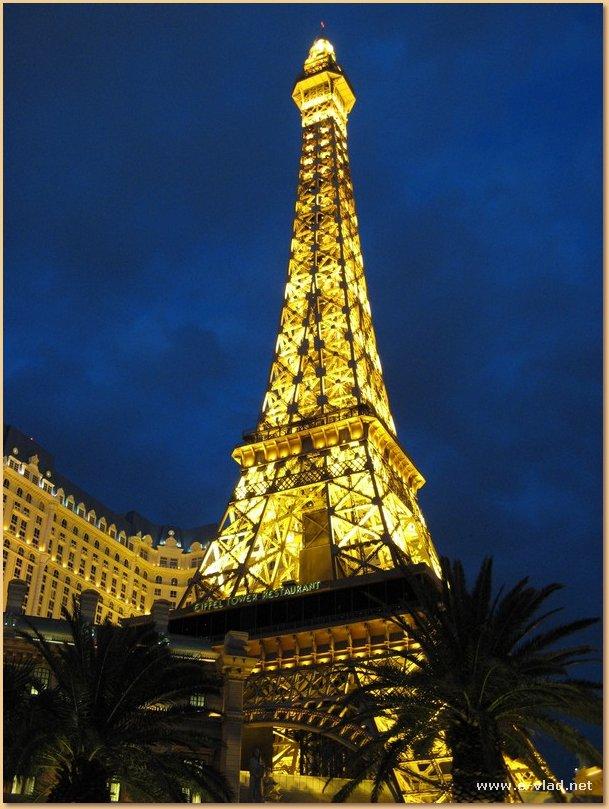 The Eiffel Tower at Paris in Las Vegas, Nevada.
