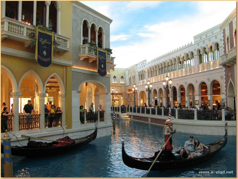 Las Vegas, Nevada - Gondolas at the Venetian.
