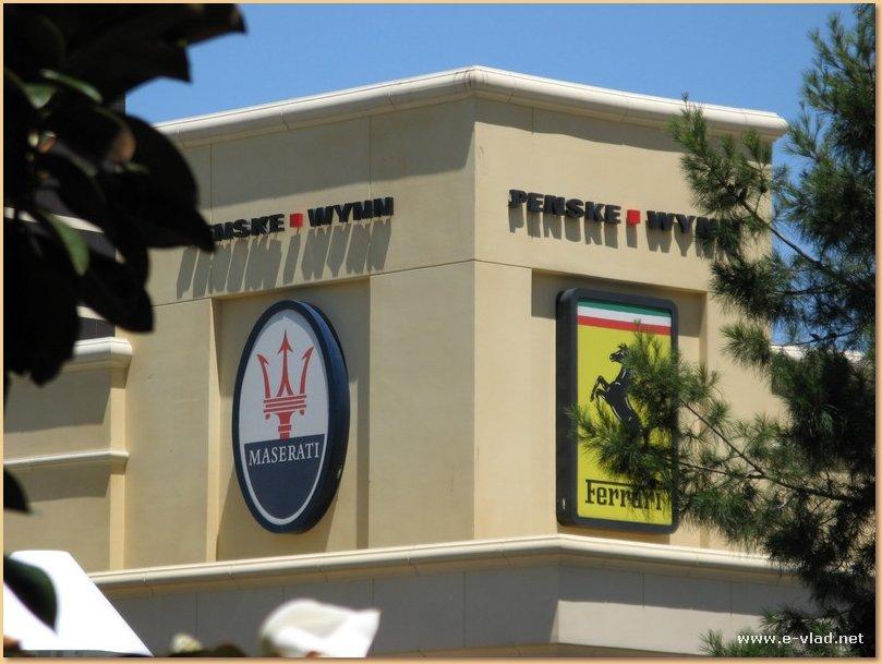 The Wynn, Las Vegas, Nevada - The sign for the Penske auto dealer for Maserati and Ferrari.