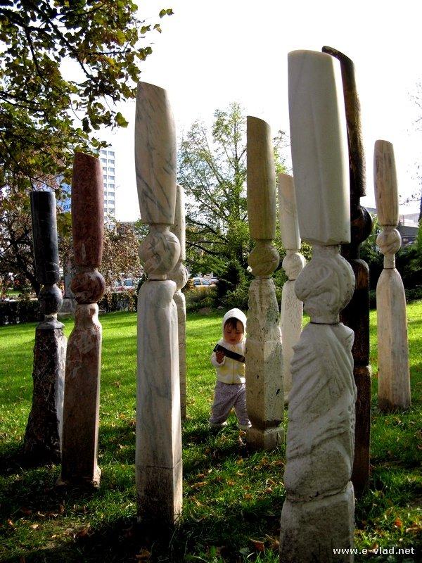 Sibiu Romania Sculpture In The City Park