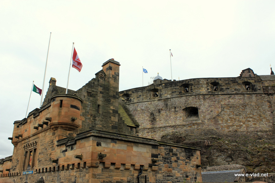 Edinburgh, Scotland - The impressive Edinburgh Castle dates from the 12th century.
