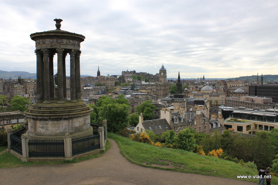 Edinburgh, Scotland - Beautiful panorama of Edinburgh from Calton Hill